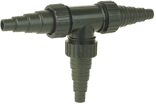 Universal hose connector T-piece