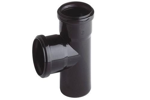 T-piece black DN75