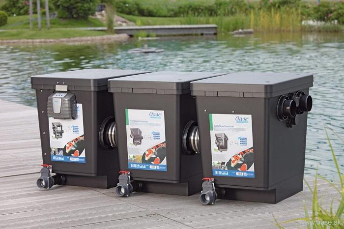 Lọc hồ cá thể tích lớn với module lọc trống (drum), giá thể vi sinh và đèn UV